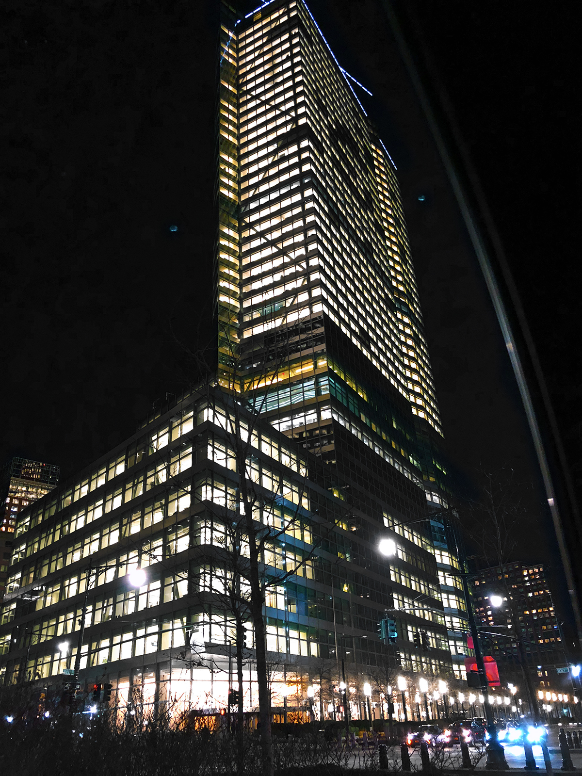 FiDi Goldman Sachs Building at Night, by Elliot Bogod