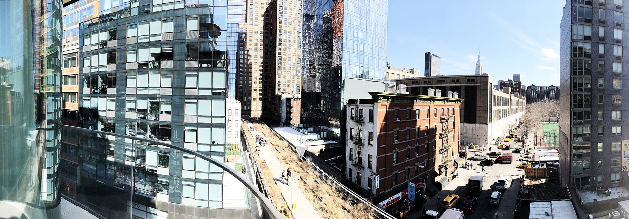 Zaha Hadid at 520 West 28th Street - View From a Balcony